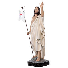 Statue of Resurrected Jesus in painted fibreglass 50 cm s3