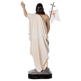Statue of Resurrected Jesus in painted fibreglass 50 cm s6