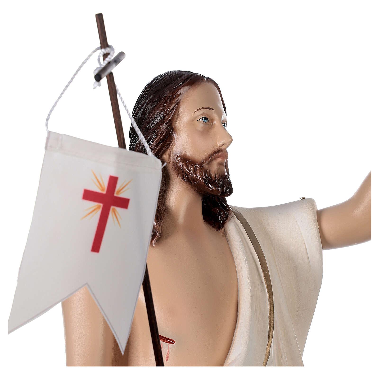 Estatua Cristo resucitado fibra de resina 50 cm pintada 4