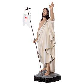 Estatua Cristo resucitado fibra de resina 50 cm pintada s3