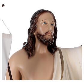 Estatua Cristo resucitado fibra de resina 50 cm pintada s4