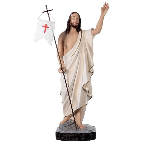 Estatua Cristo resucitado fibra de resina 50 cm pintada 1