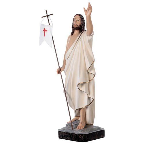 Estatua Cristo resucitado fibra de resina 50 cm pintada 3
