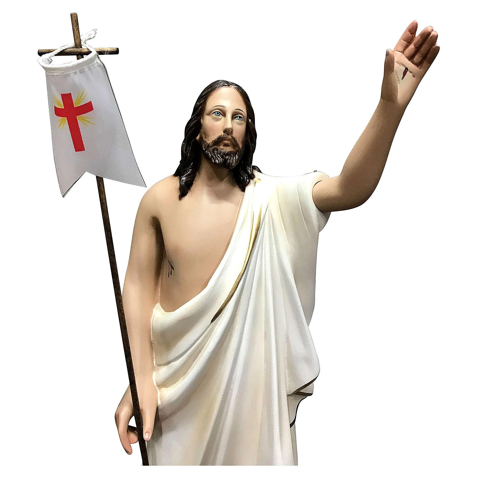Statue Christ ressuscité 50 cm fibre de verre peinte 4