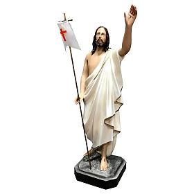 Statue Christ ressuscité 50 cm fibre de verre peinte s3