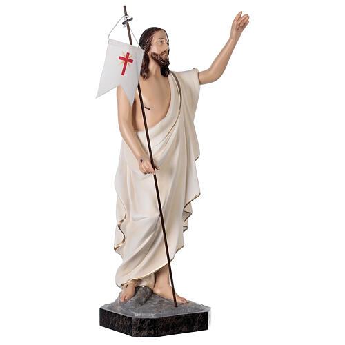 Statue Christ ressuscité 50 cm fibre de verre peinte 5