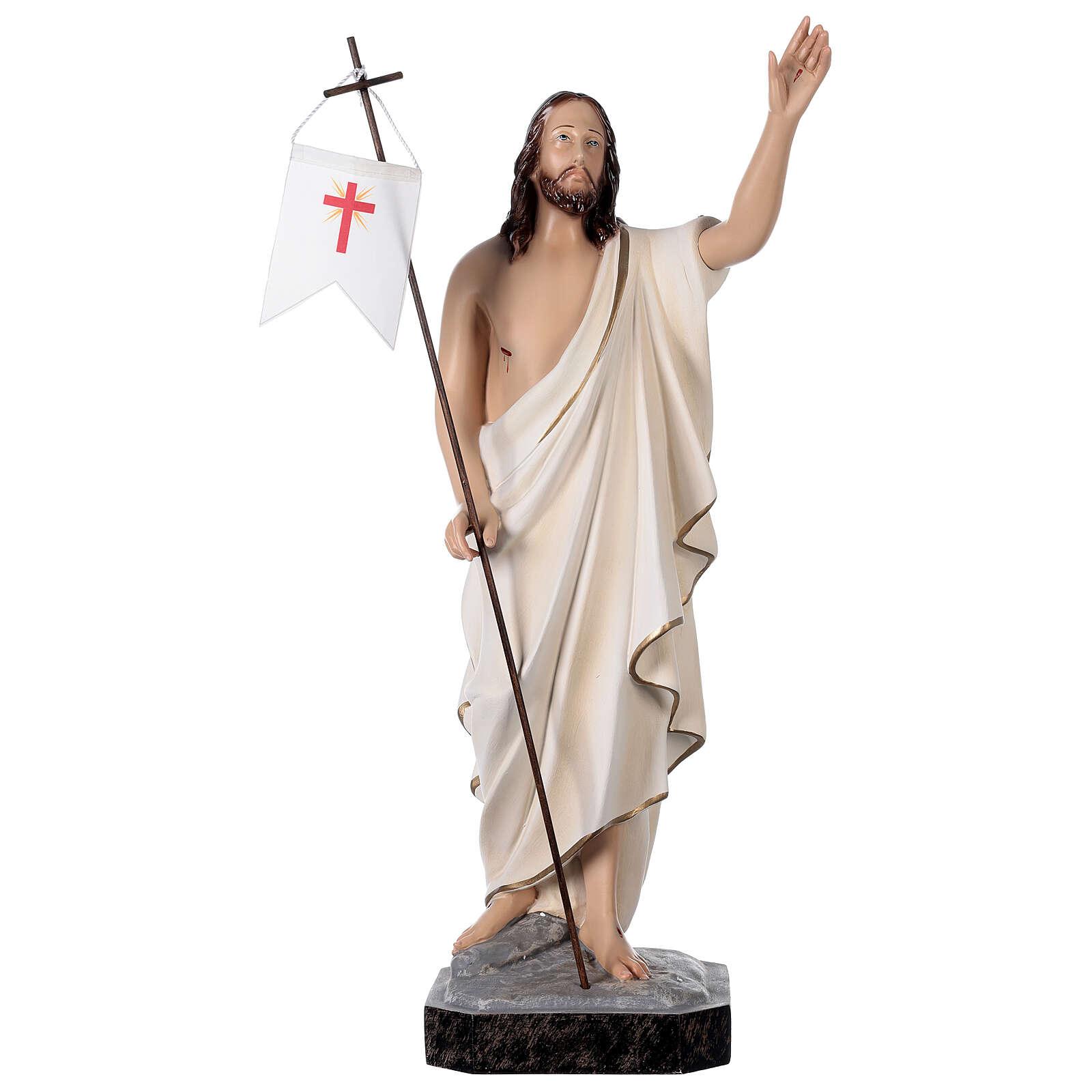 Statua Cristo risorto vetroresina 50 cm dipinta 4
