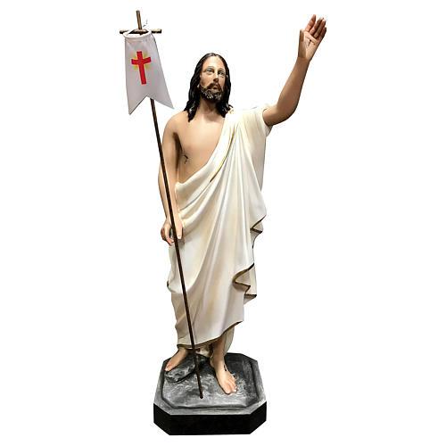 Statua Cristo risorto vetroresina 50 cm dipinta 1