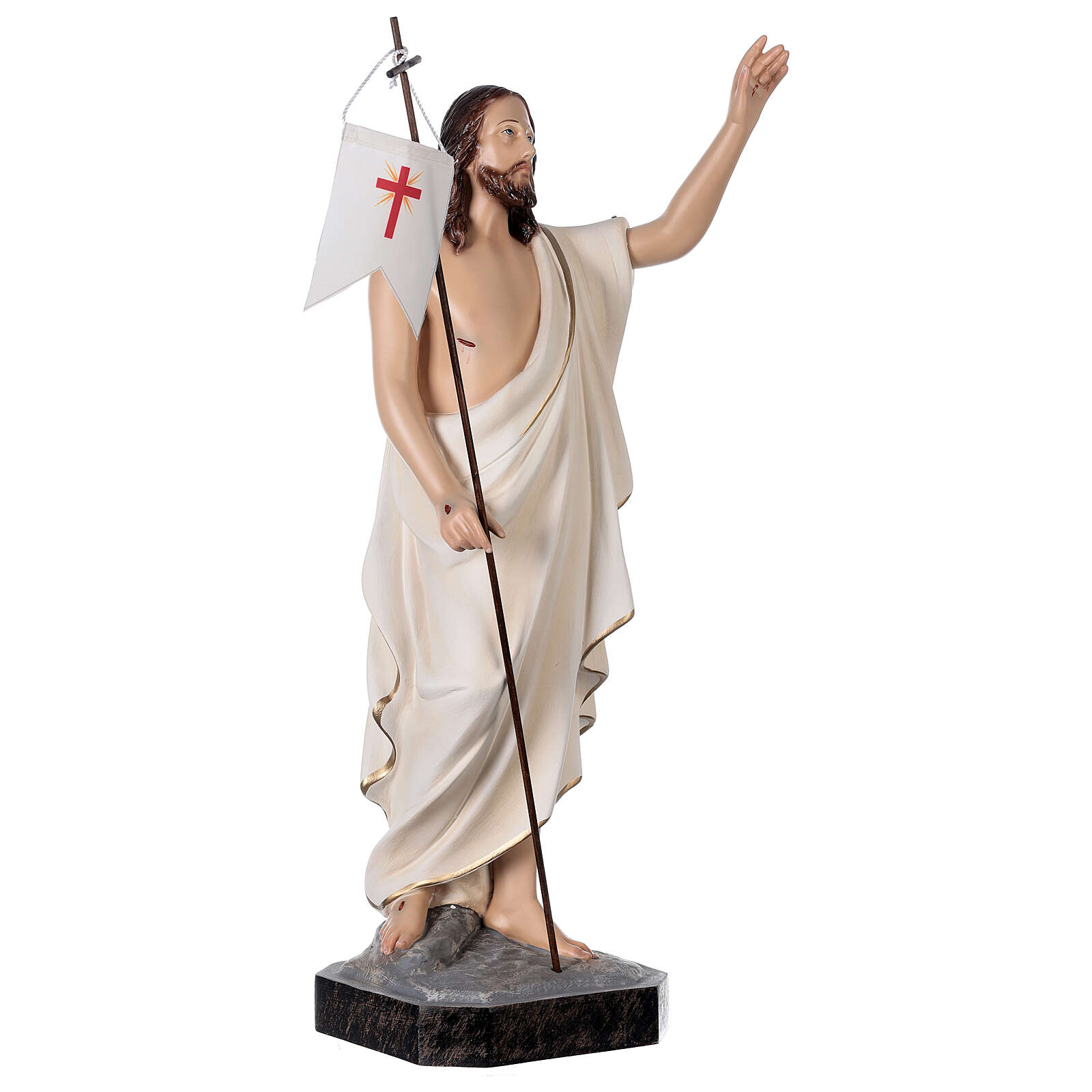 Resurrected Christ statue, fiberglass 50 cm painted 4