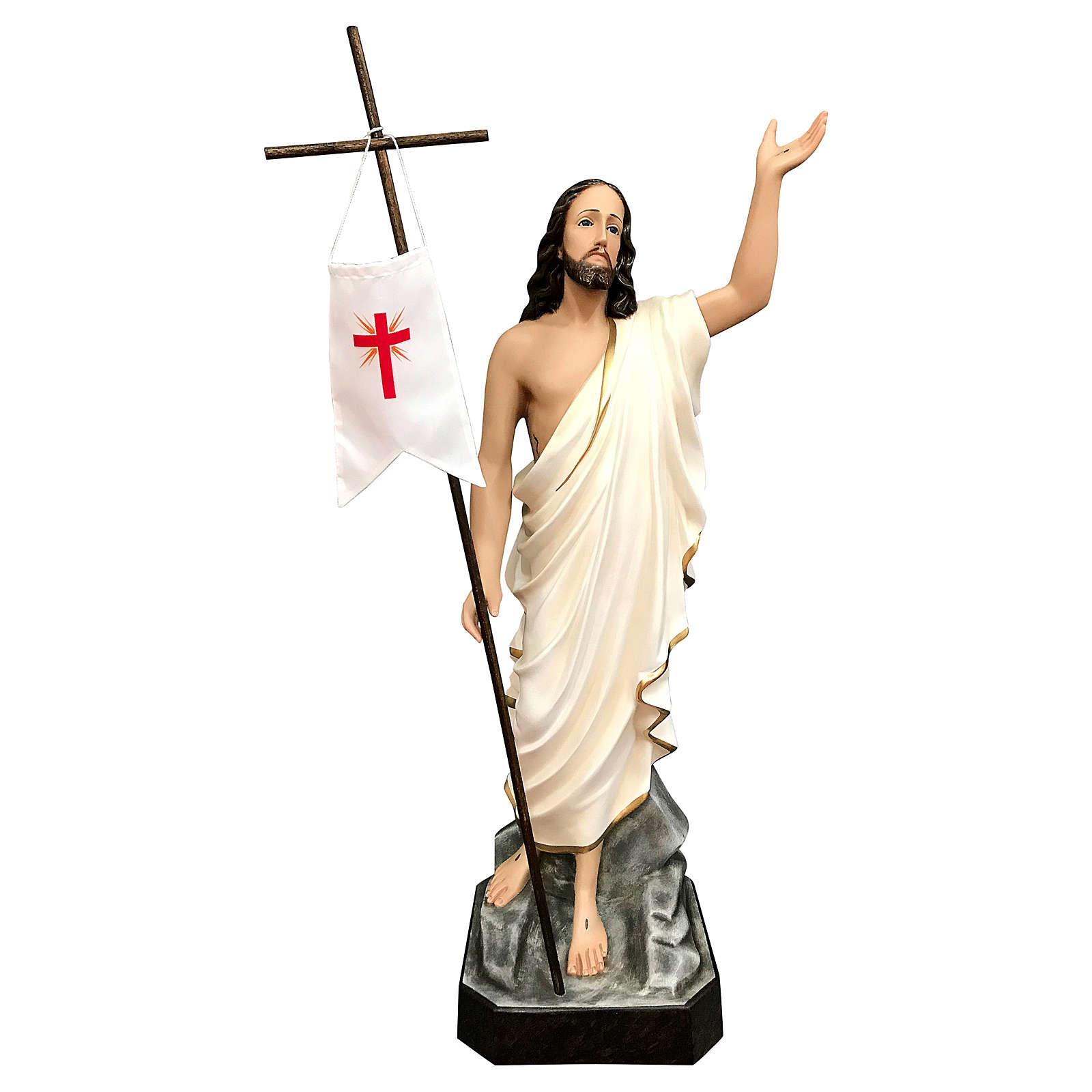 Statua Cristo risorto vetroresina 85 cm dipinta occhi vetro 4