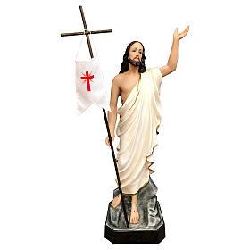 Statua Cristo risorto vetroresina 85 cm dipinta occhi vetro s1