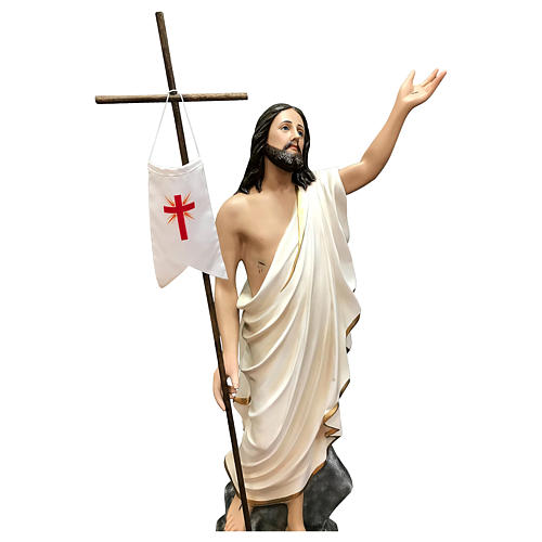 Statue of Resurrected Jesus in painted fibreglass 110 cm 2