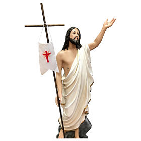 Statue Christ ressuscité fibre de verre 110 cm peinte s2
