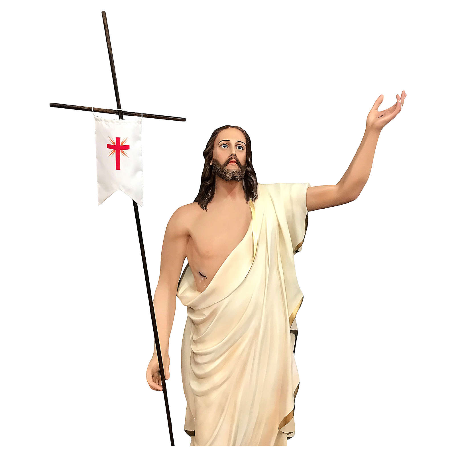 Statue of Resurrected Jesus in painted fibreglass 200 cm 4