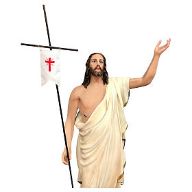 Statue of Resurrected Jesus in painted fibreglass 200 cm s2