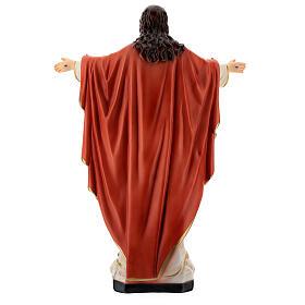 Statua Gesù Sacro Cuore braccia aperte 40 cm resina dipinta s7