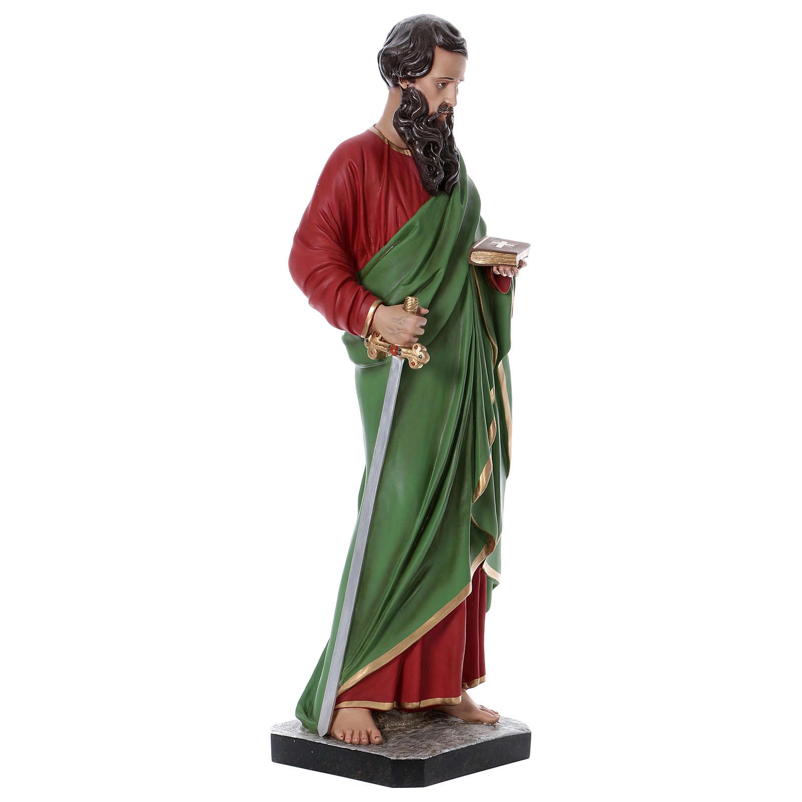 Statue Saint Paul 110 cm fibre de verre colorée 4