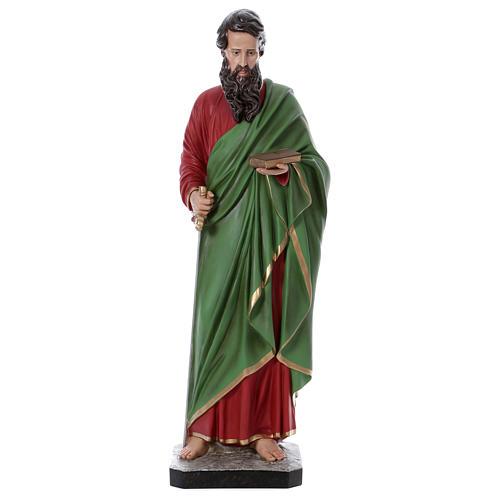 Statue Saint Paul 110 cm fibre de verre colorée 1