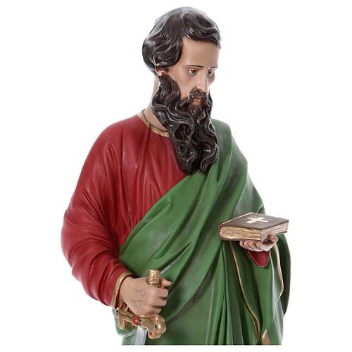 Statue Saint Paul 110 cm fibre de verre colorée 2