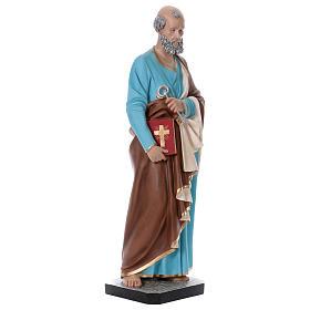 Estatua San Pedro 110 cm fibra de vidrio coloreada s4