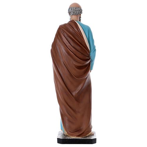 Estatua San Pedro 110 cm fibra de vidrio coloreada 5