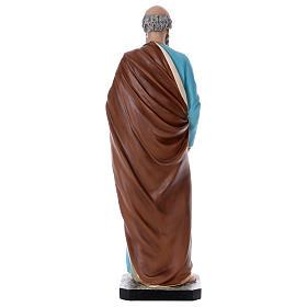 Statue Saint Pierre 110 cm fibre de verre colorée s5