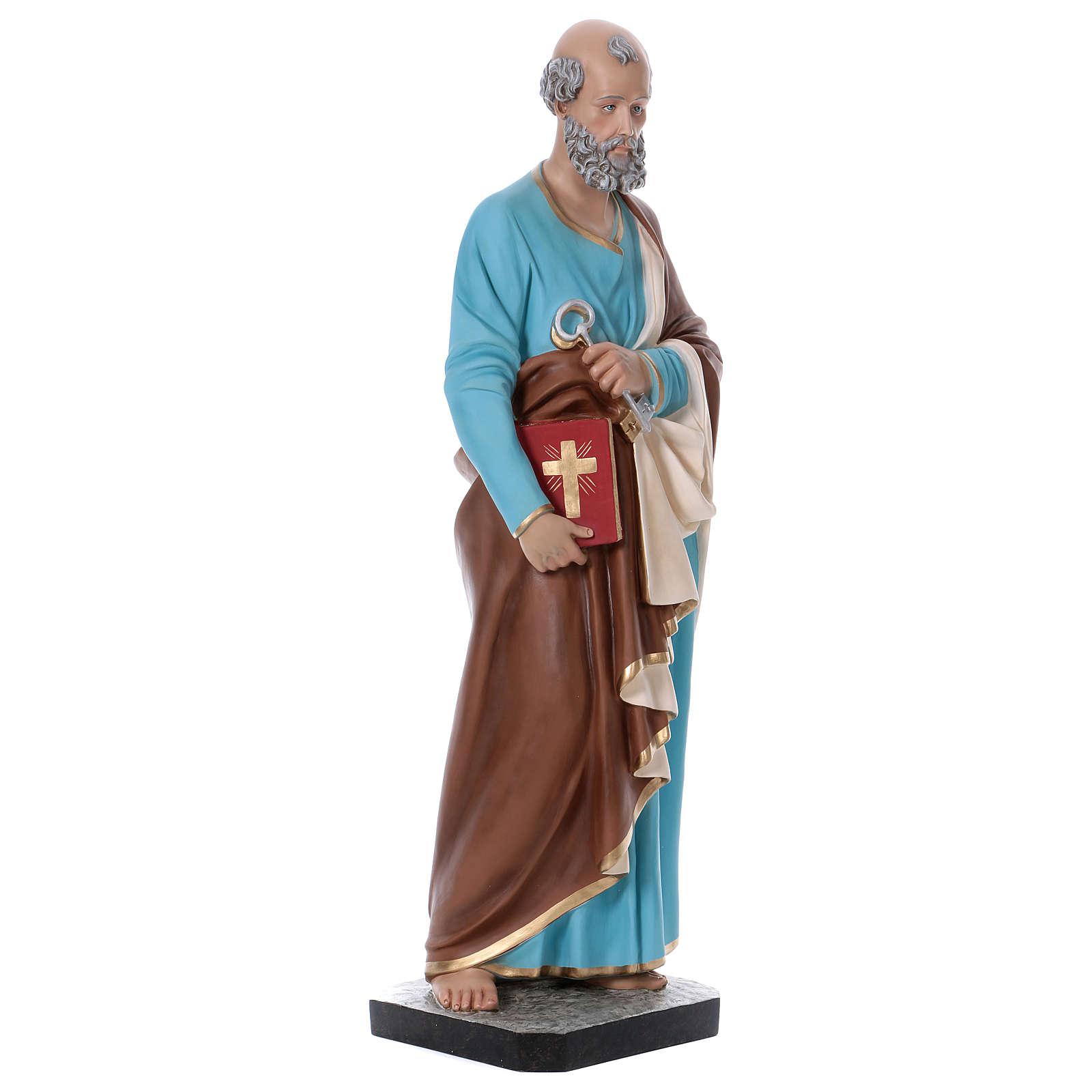 Statua San Pietro 110 cm vetroresina colorata 4