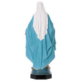 Madonna Miracolosa 110 cm vetroresina colorata occhi di vetro s6