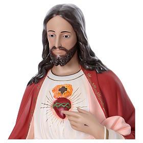 Sacro Cuore di Gesù 165 cm vetroresina colorata occhi di vetro s2