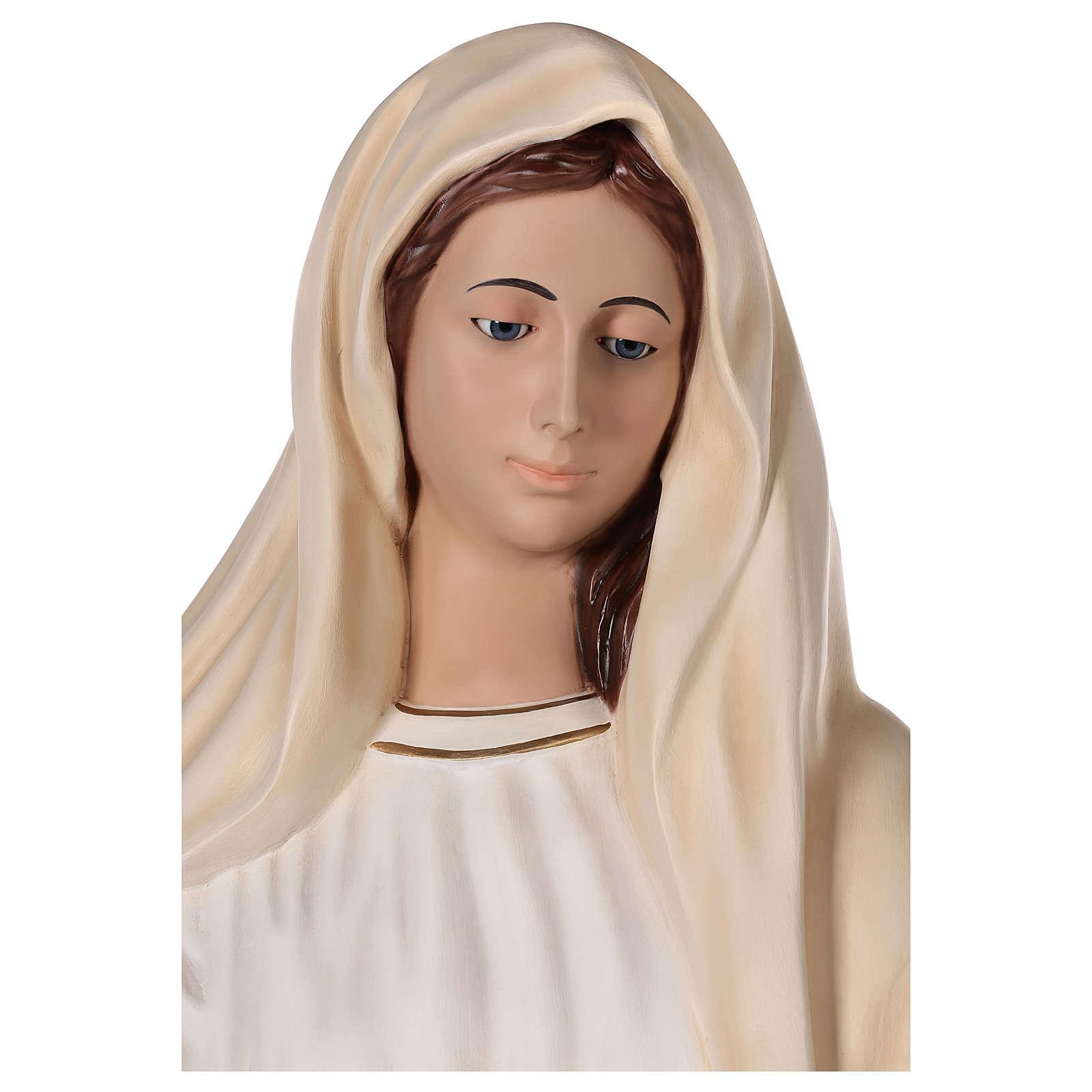 Virgen Medjugorje 170 cm fibra de vidrio pintada ojos vidrio 4