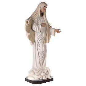 Virgen Medjugorje 170 cm fibra de vidrio pintada ojos vidrio s5
