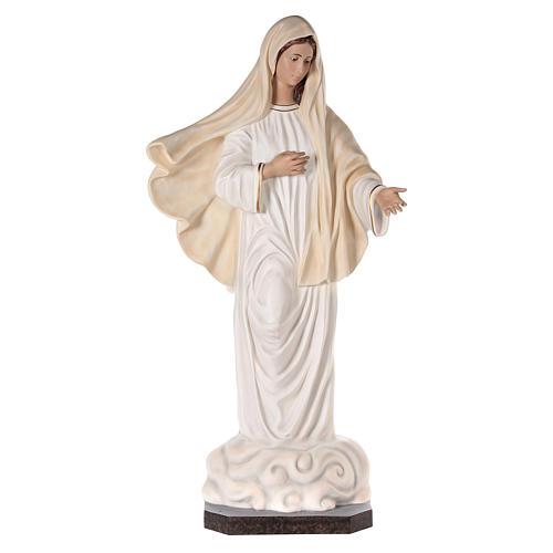 Virgen Medjugorje 170 cm fibra de vidrio pintada ojos vidrio 1