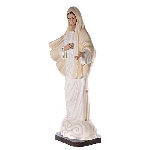 Virgen Medjugorje 170 cm fibra de vidrio pintada ojos vidrio 3