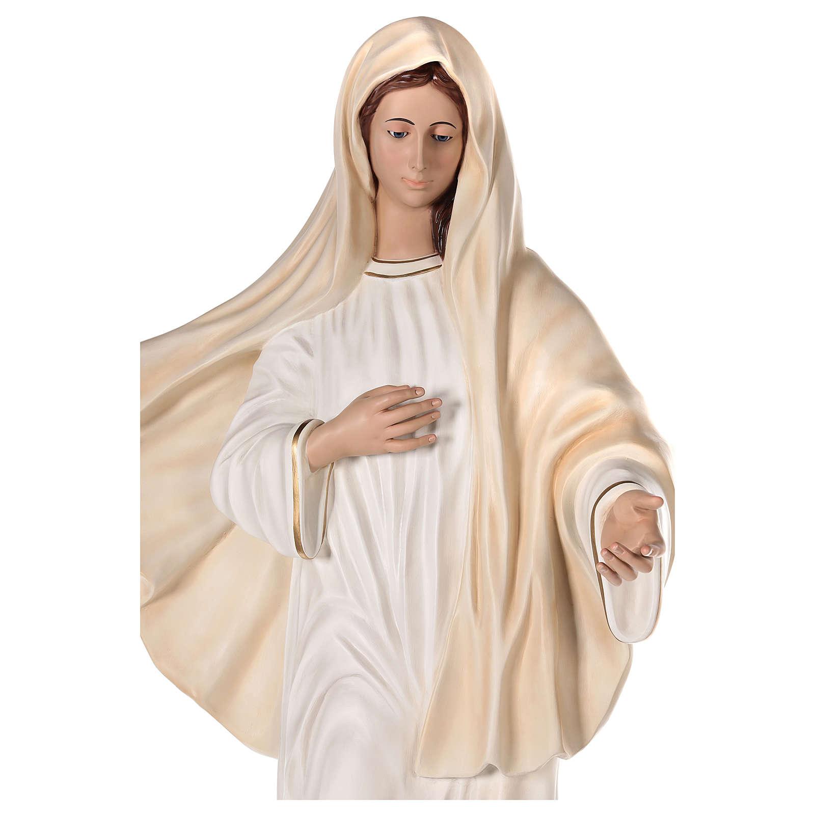 Notre-Dame de Medjugorje 170 cm fibre de verre peinte yeux verre 4