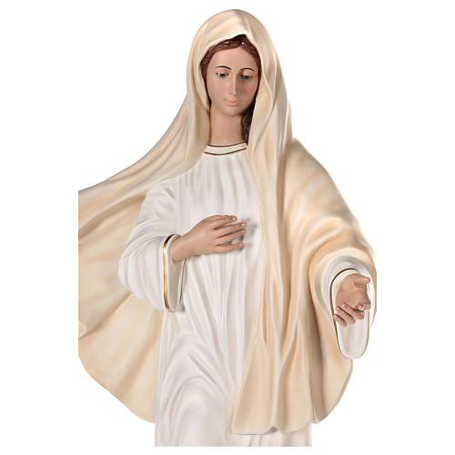 Madonna Medjugorje 170 cm vetroresina dipinta occhi vetro 4