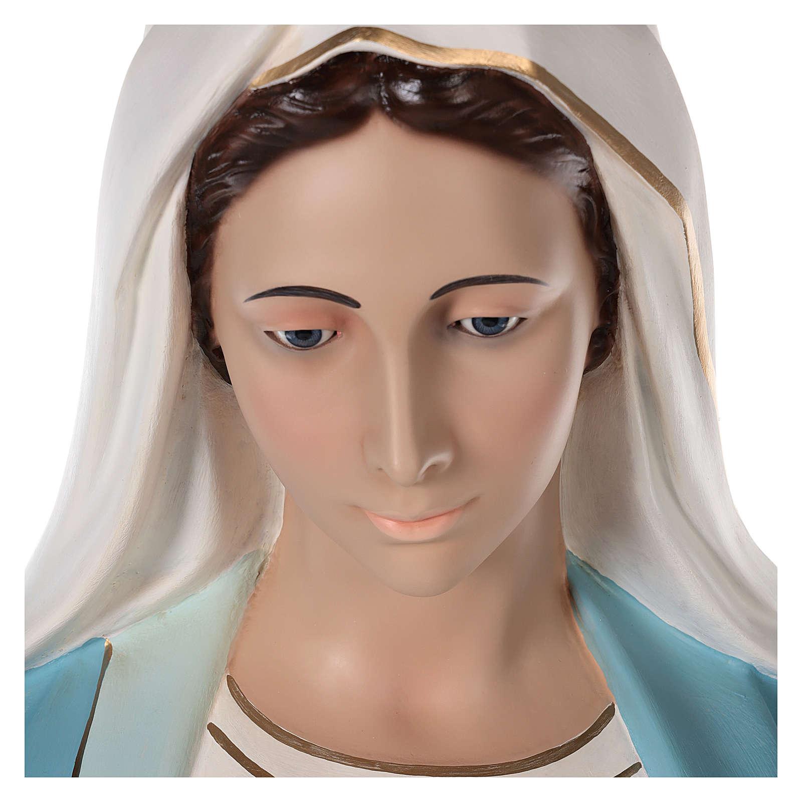 Virgen Milagrosa 180 cm fibra de vidrio pintada ojos vidrio 4