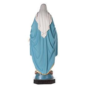 Virgen Milagrosa 180 cm fibra de vidrio pintada ojos vidrio s9