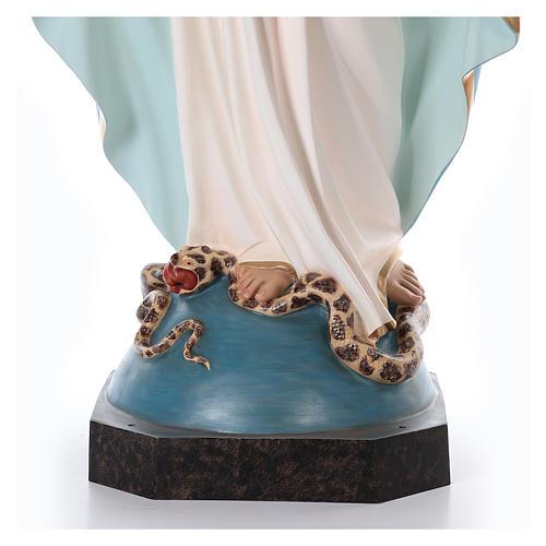 Virgen Milagrosa 180 cm fibra de vidrio pintada ojos vidrio 8