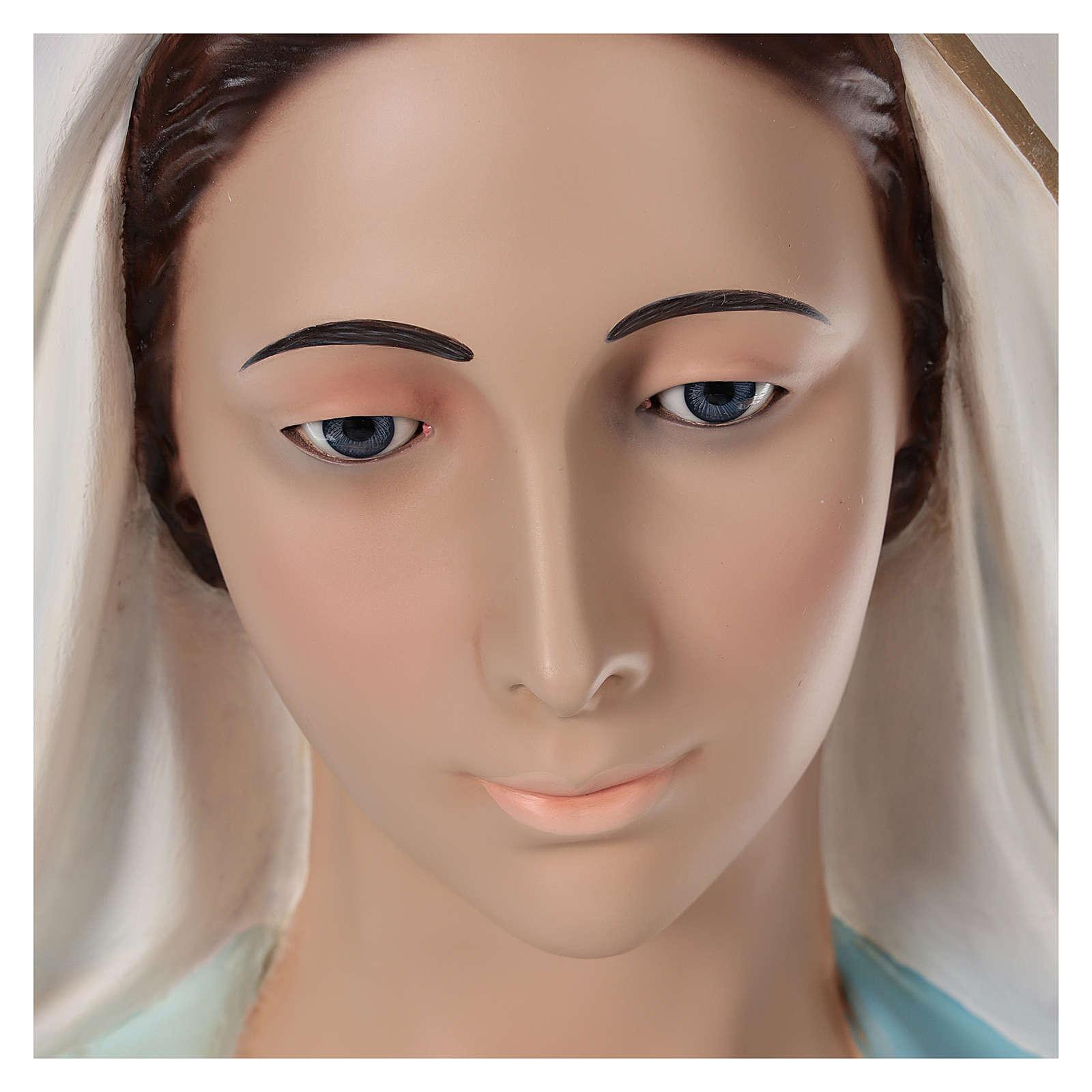 Madonna Miracolosa 180 cm vetroresina dipinta occhi vetro 4