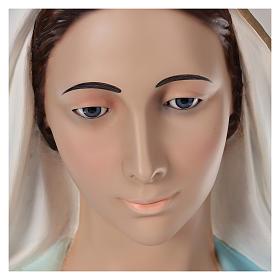 Madonna Miracolosa 180 cm vetroresina dipinta occhi vetro s4