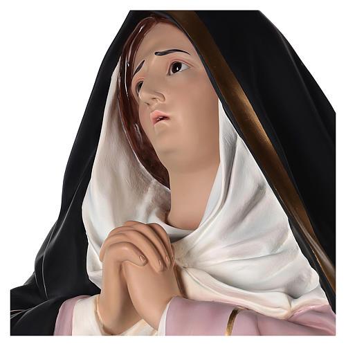 Virgen Dolorosa 160 cm fibra de vidrio pintada ojos vidrio 4
