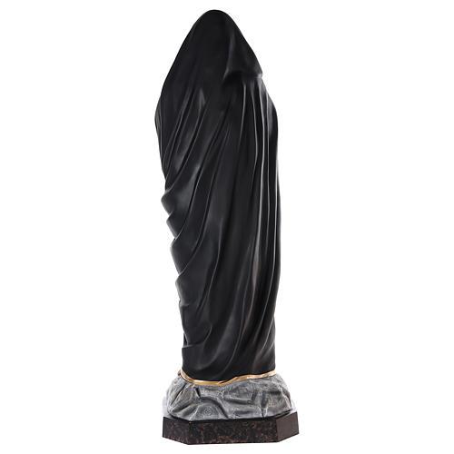 Virgen Dolorosa 160 cm fibra de vidrio pintada ojos vidrio 6
