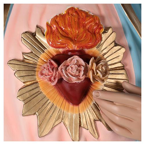 Coeur Immaculé de Marie 165 cm fibre de verre peinte yeux verre 5