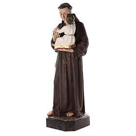 Sant'Antonio da Padova 160 cm vetroresina dipinta occhi vetro s3