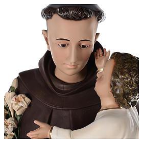 Sant'Antonio da Padova 160 cm vetroresina dipinta occhi vetro s6