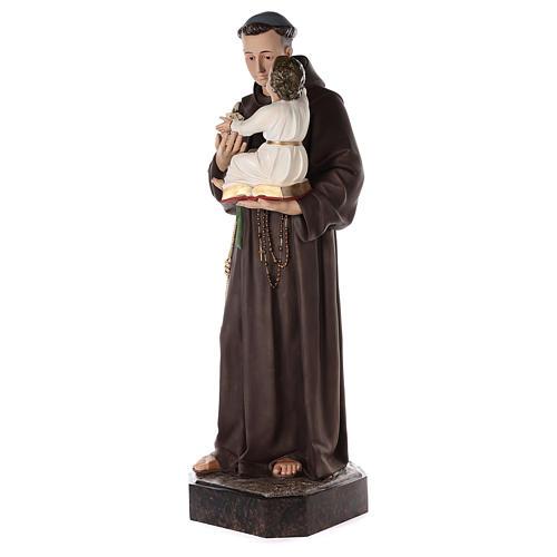 Sant'Antonio da Padova 160 cm vetroresina dipinta occhi vetro 3