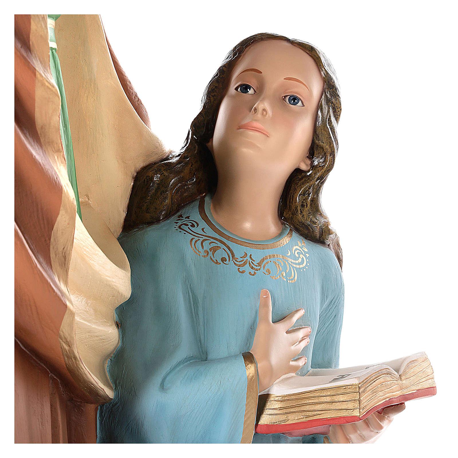 S. Ana con María niña cm 150 fibra de vidrio pintada ojos vidrio ambos 4
