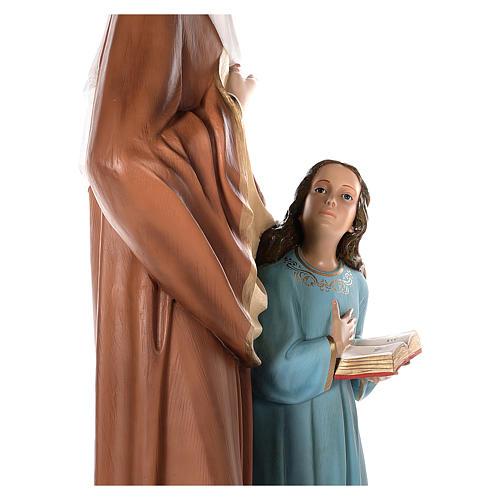 S. Ana con María niña cm 150 fibra de vidrio pintada ojos vidrio ambos 6