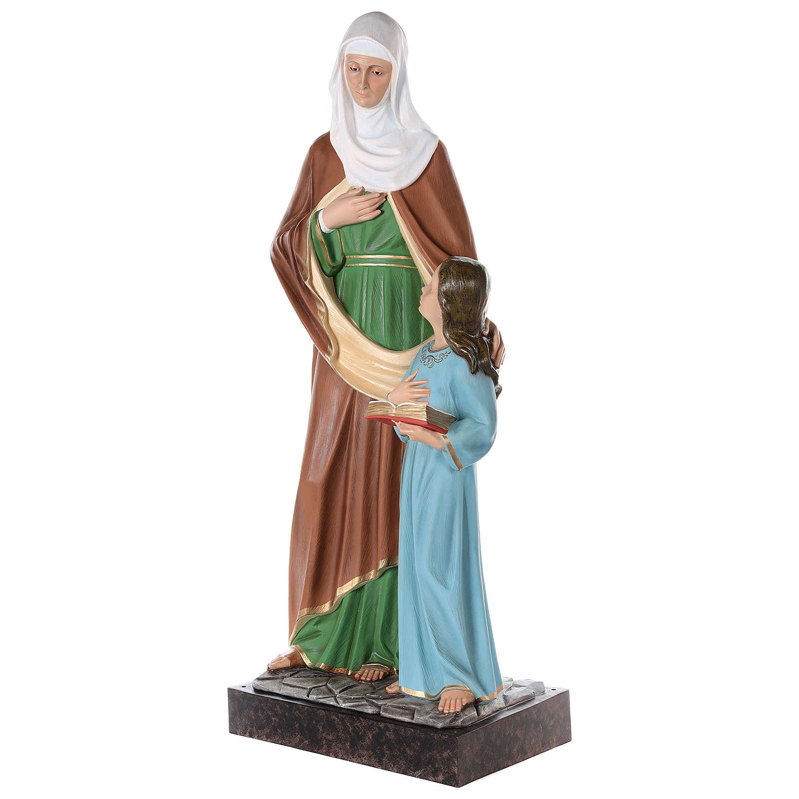 S. Anna con Maria bambina cm 150 vetroresina dipinta occhi vetro entrambi 4