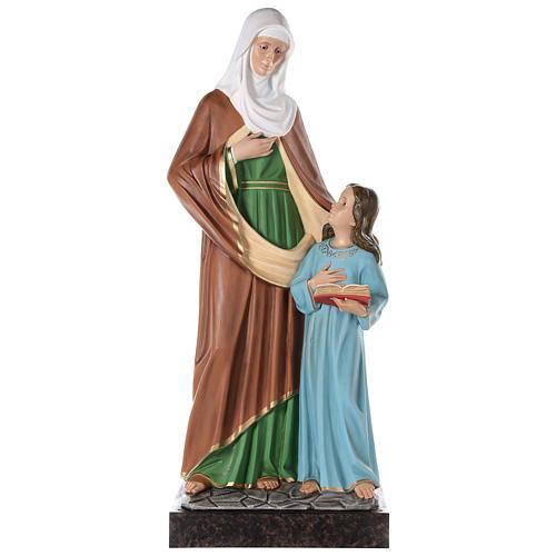 S. Anna con Maria bambina cm 150 vetroresina dipinta occhi vetro entrambi 1